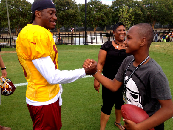 RG3 dedicates the Skins season to this young man.