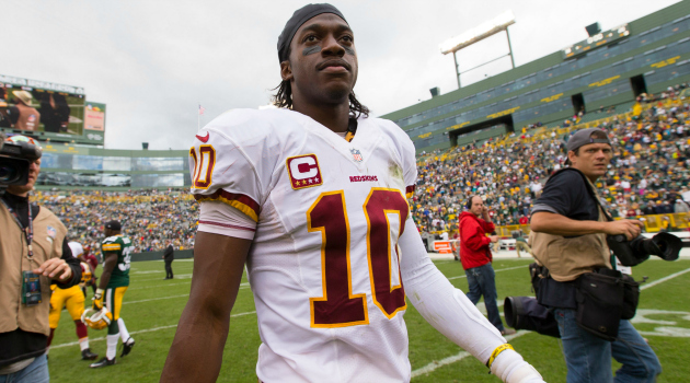 RG3 has been advised not to talk about the Redskins nickname.