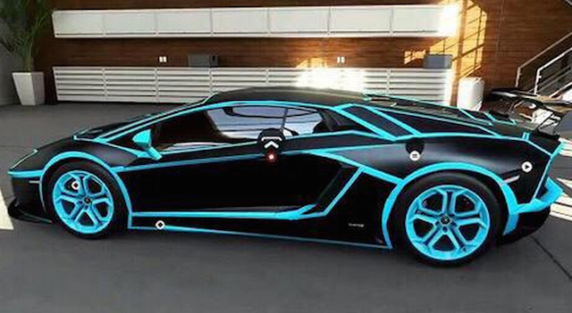 LOOK: Panthers-colored Lamborghini isn't real but should be
