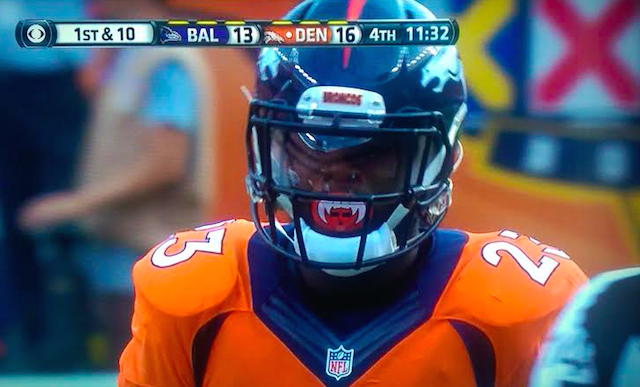 LOOK: Broncos RB has crazy vampire mouth guard - CBSSports.com