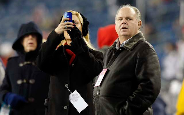 Rush Limbaugh has been known to turn up on an NFL sideline from time to time. (USATSI)