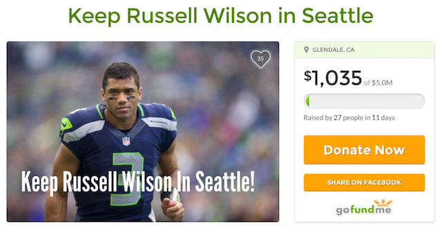 LOOK: Seahawks fan starts GoFundMe page to help re-sign Russell Wilson