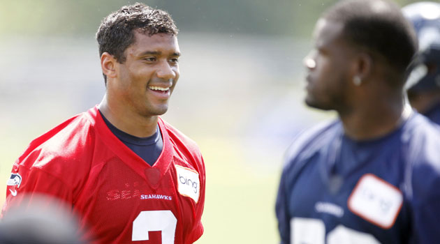 Russell Wilson is a million miles ahead of last year according to Pete Carroll. (USATSI)