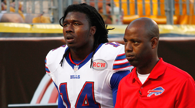 Sammy Watkins suffered a rib injury on Saturday night.