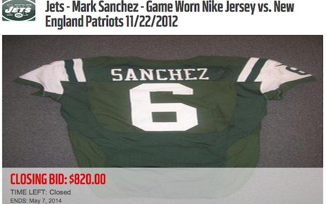 c6142ff97be The butt-fumble jersey could have been yours for $821. (NFLauction.com