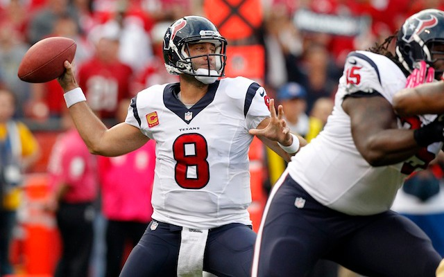 Matt Schaub has thrown a record-setting amount of pick-six's. (USATSI)