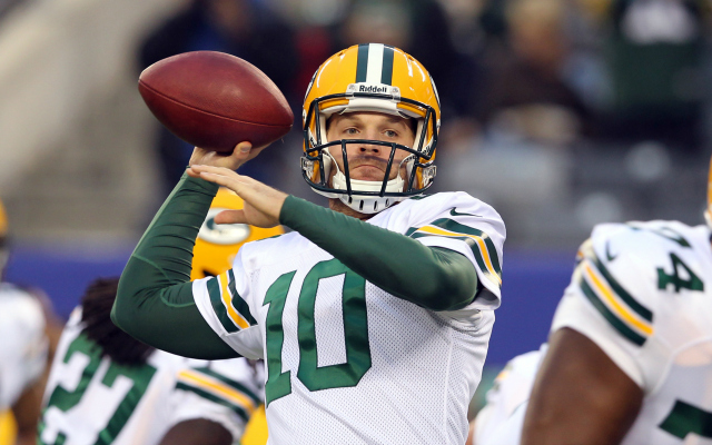 Matt Flynn is under center for the Packers.