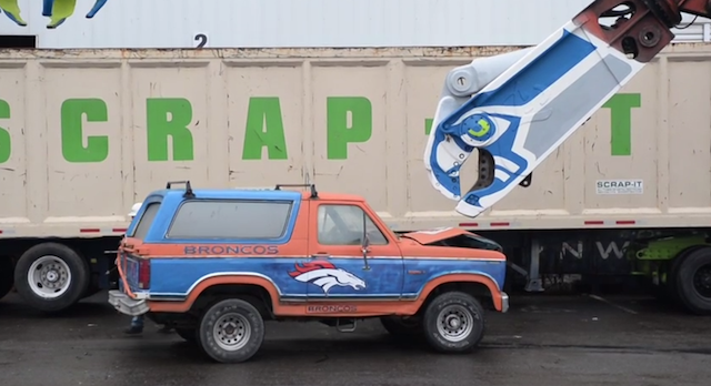 This Ford Bronco has a short lifespan. (YouTube)