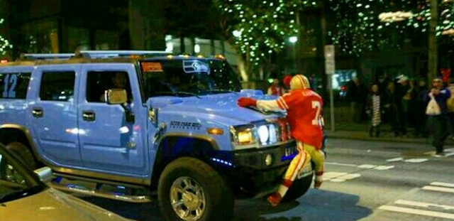 Another view of the Colin Kaepernick-hating Hummer. (Instagram/@HaveBigDreams)