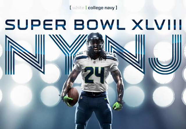 Discount Seahawks will wear white jerseys, blue pants in Super Bowl XLVIII