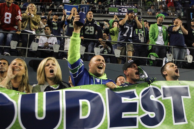 Some Seahawks fans were just too loud on Sunday night. (USATSI)