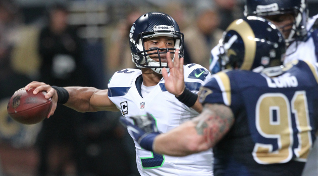 Russell Wilson spent Monday on his back, but Seattle's still fine.