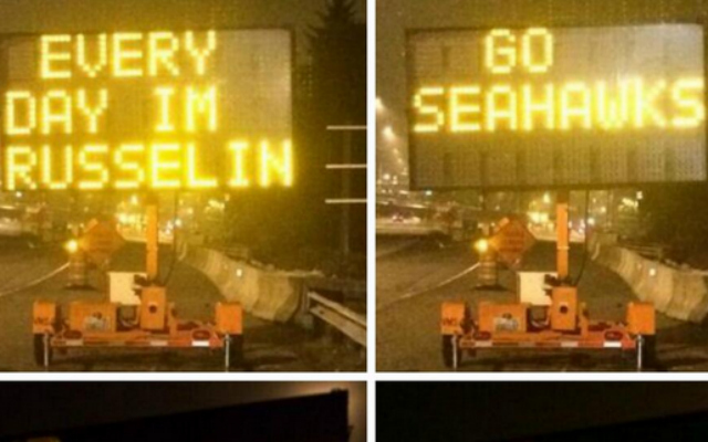 Seahawks are getting some love on the highways.
