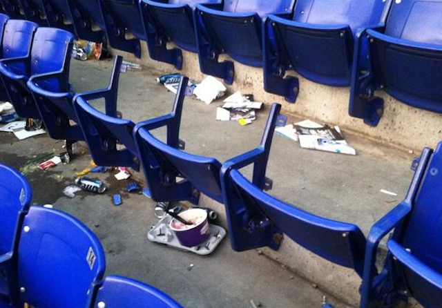 A few fans at the Metrodome left the Vikings game with a souvenir. (Twitter)