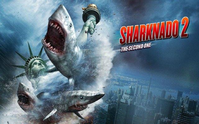 Sharknado 2 debuts on SyFy at 9 PM Wednesday.
