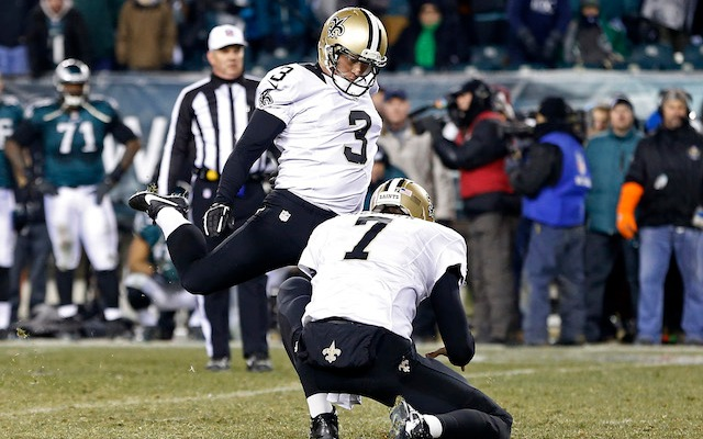Shayne Graham will be spending at least one more year in New Orleans. (USATSI)