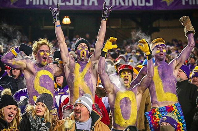 Weather won't be a factor for Vikings fans. (Instagram/Vikings)