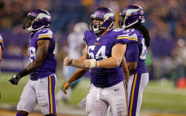 The Vikings will be without Spencer Nealy [64] until at least Week 5. (USATSI)