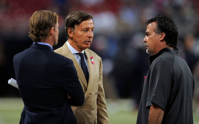 Rams owner Stan Kroenke (center) bought a piece of land in Los Angeles big enough for a stadium. (USATSI)