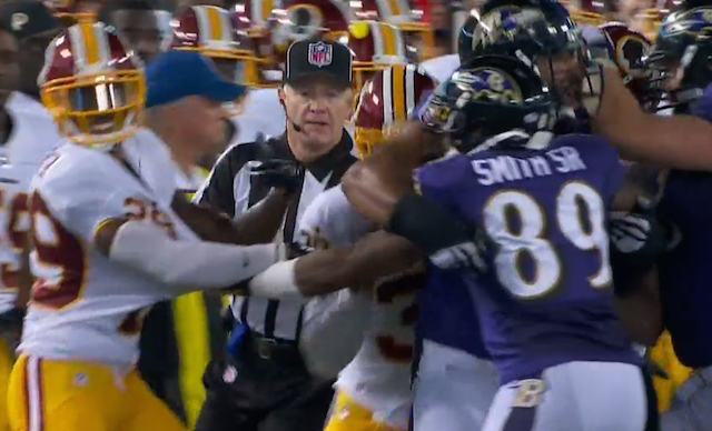 Steve Smith got into it with Chris Culliver on Saturday. (NFL)