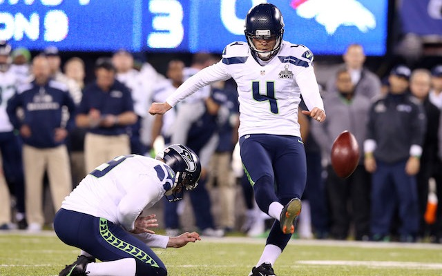 Steven Hauschka is staying in Seattle. (USATSI)