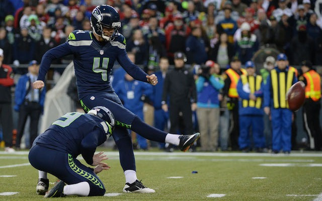 Steven Hauschka didn't feel comfortable trying a 53-yard field goal in the fourth quarter. (USATSI)