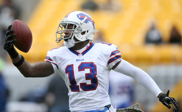 Buffalo's leading receiver, Stevie Johnson, has been ruled out for Sunday's game. (USATSI)