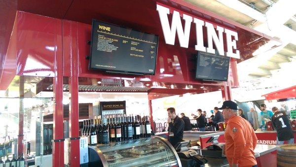 Wine was a popular drink at Levi's Stadium. (CBSSports.com)