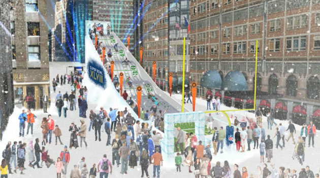 There's going to be a giant ice slide in New York City for SB 48. (NFL.com)