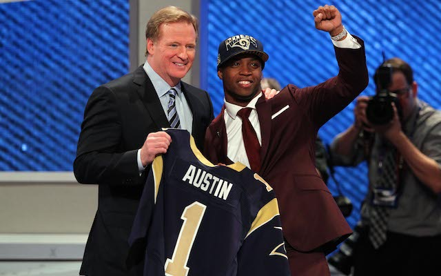As Tavon Austin found out in 2013, everyone has to wear a draft hat. (USATSI)