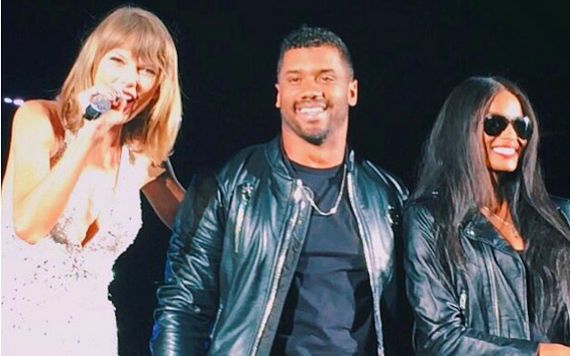 Russell Wilson and Ciara had a good time hanging with Taylor Swift. (Instagram/@Heythereerika)