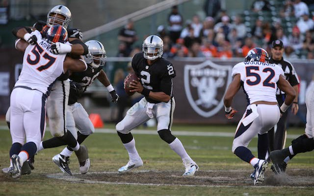 The Raiders are looking to get rid of Terrelle Pryor before April 22. (USATSI)