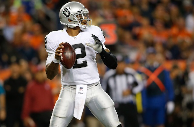 Terrelle Pryor and the Raiders will be looking to pull off a big upset on Sunday. (USATSI)