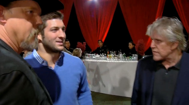 Tim Tebow made a cameo on the All-Star Celebrity Apprenctice finale. (NBC.com)