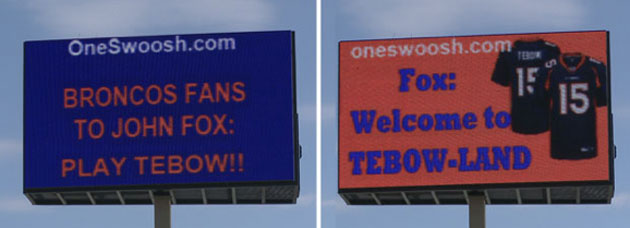 Tebow's billboards