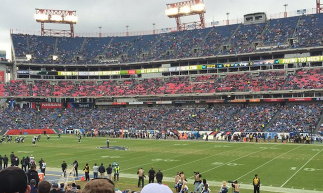 Image result for near empty nfl stadiums