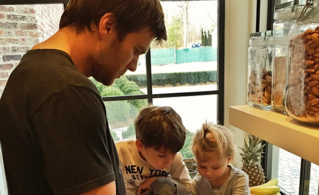 What is Tom Brady baking? You'll have to buy his cookbook to find out. (Instagram/Gisele)