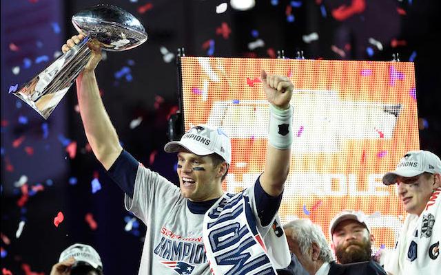 114.4 million U.S. viewers watched Tom Brady win the Lombardi Trophy. (USATSI)