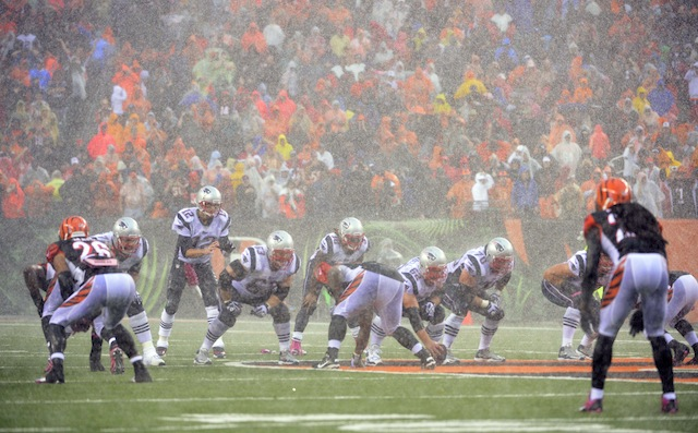 Can Tom Brady win when he's not playing in a monsoon? (USATSI)