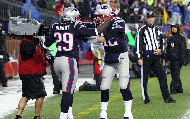 Tom Brady didn't have to carry the Patriots on Saturday because LaGarrette Blount did it for him. (USATSI)