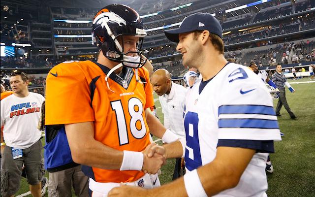 Peyton Manning, Tony Romo (USATSI)
