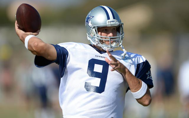 Tony Romo says he'll be on the field when the Cowboys play the Ravens. (USATSI)