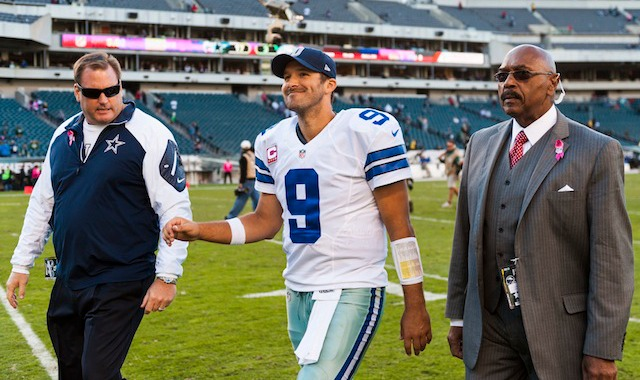 Tony Romo's smile would probably be bigger if he had a Lombardi Trophy and a ring. (USATSI)