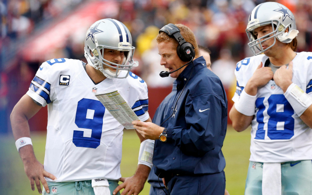 Jason Garrett won't rule Tony Romo in or out for Sunday quite yet.