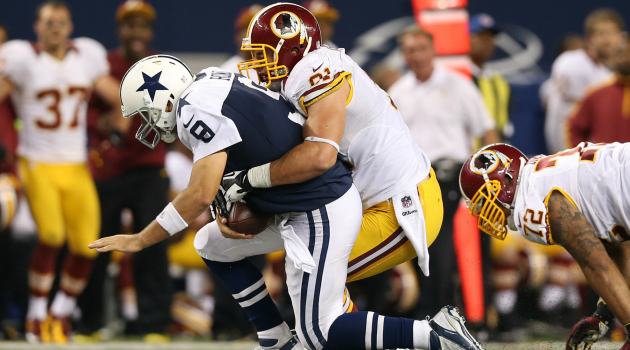 Ryan Kerrigan has 24.5 sacks in three seasons for the Redskins.