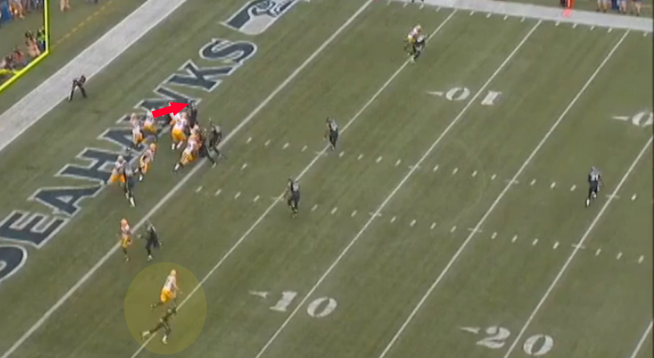 Rodgers wasn't finding his receivers when they were actually open.