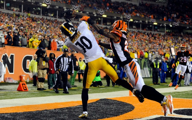 Bengals steelers end zone catch