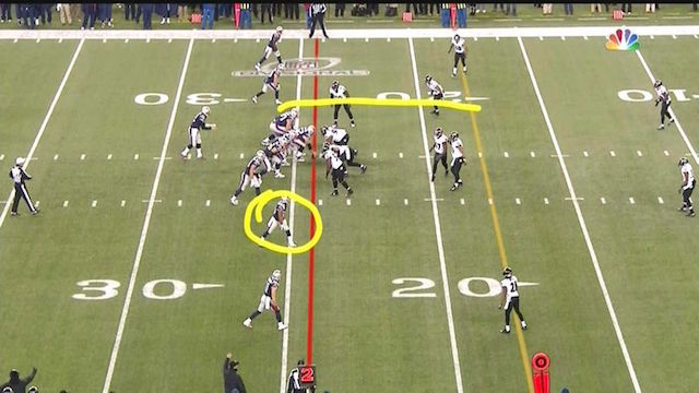 The NFL says this formation was legal. (NBC)