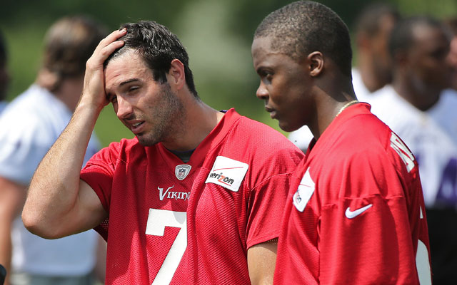 Teddy Bridgewater isn't 'comfortable' talking about the QB competition, but Norv has his back.