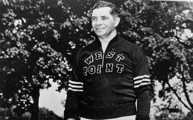 Vince Lombardi's $0.58 West Point sweater. (Getty Images)